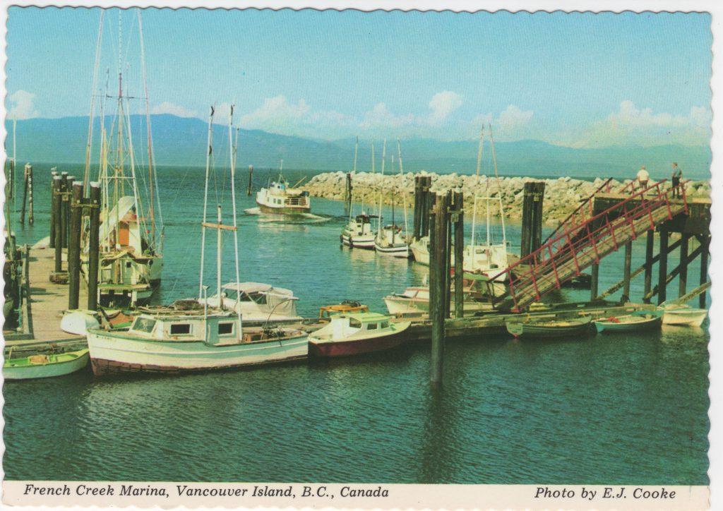 French Creek Marina, île de Vancouver; ca. années 1970 (SHFCB)
