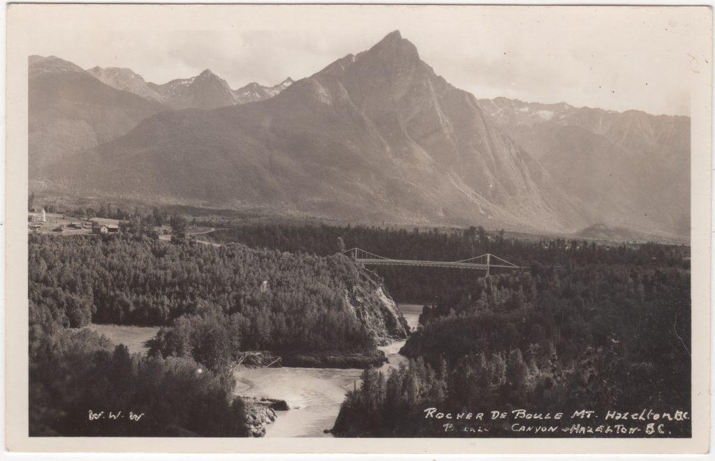 Montagne Rocher De Boule, Hazelton; ca. années 1930 (SHFCB 2016.02.119)