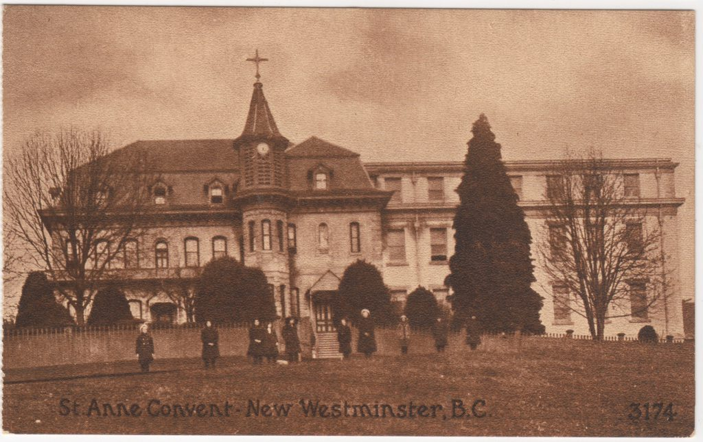 Couvent St. Anne Convent, New Westminster; ca. années 1910 (SHFCB 2016.02.129)