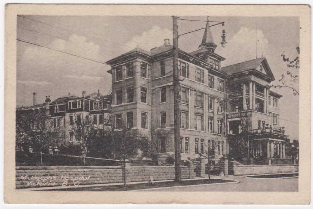 Hôpital St. Joseph, Victoria; ca. années 1900 (SHFCB 2016.02.138)