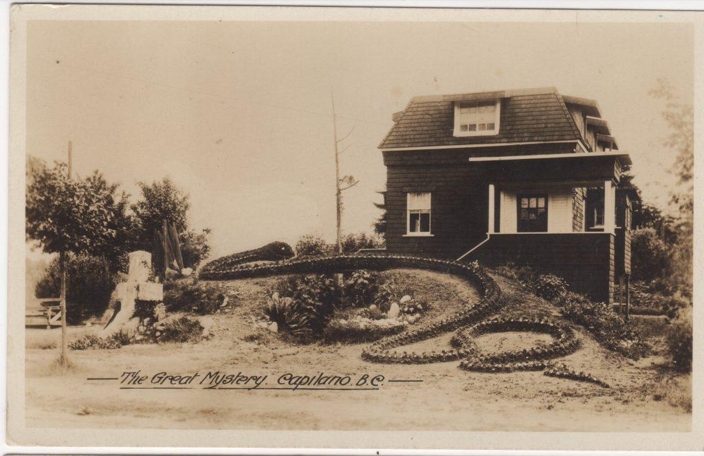 The Great Mystery, Maison de Napoléon St. Pierre, Capilano, North Vancouver, ca. années 1920 (SHFCB 2016.02.214)