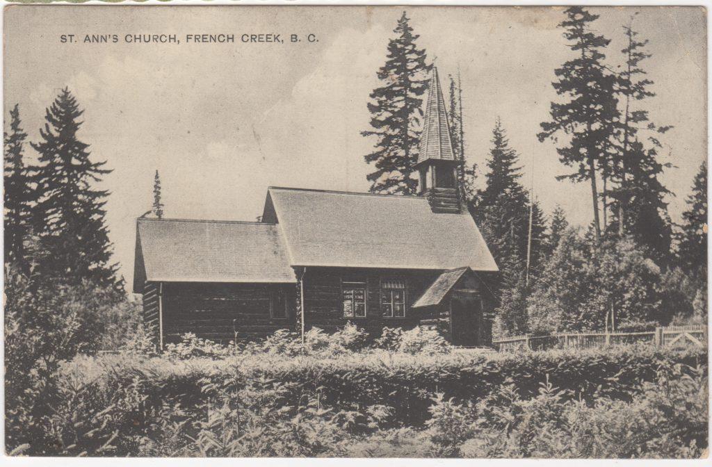 Église St. Ann's, French Creek; ca. années 1900 (SHFCB 2016.02.182)
