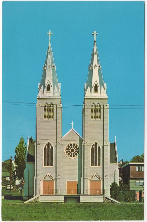 Église catholique St. Paul's, Réserve Squamish, North Vancouver; ca. 1950 (SHFCB 2016.02.142)