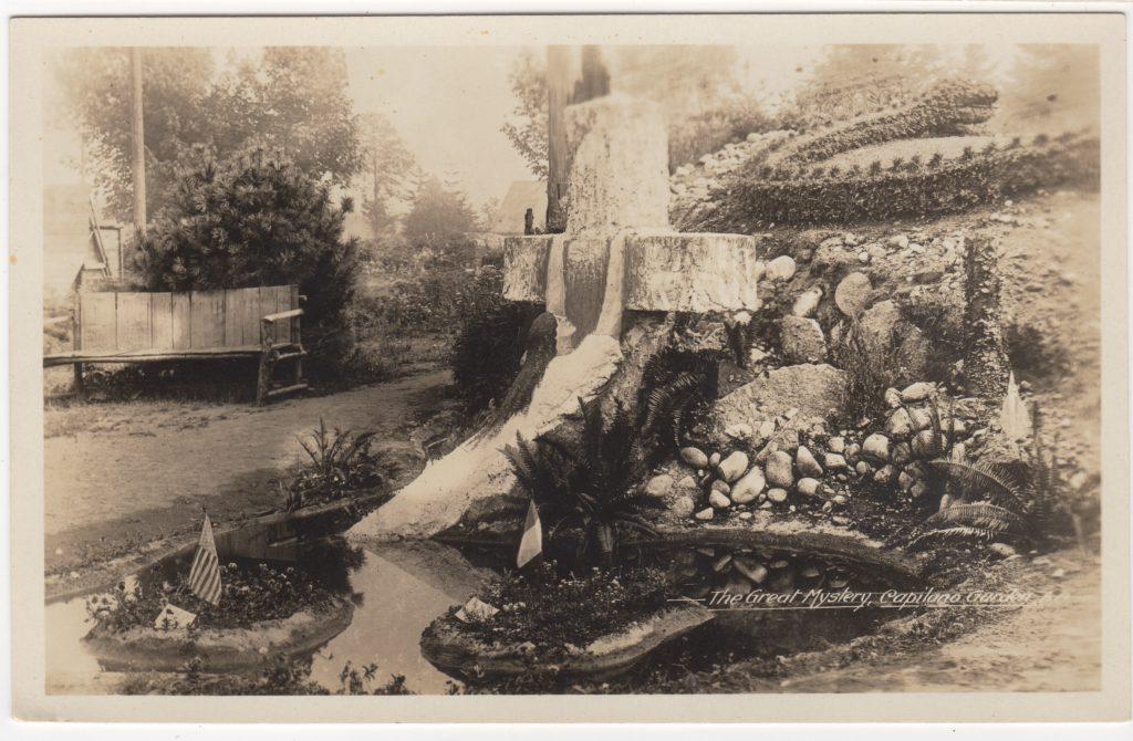 The Great Mystery, maison de Napoléon St. Pierre, Capilano, North Vancouver; ca. années 1920 (SHFCB 2016.02.0218)